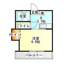 メゾンM・Y[203号室]の間取り
