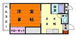山愛コーポ[1階]の間取り