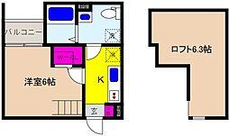 兵庫県神戸市東灘区青木5丁目の賃貸アパートの間取り