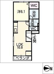 D−room尾頭橋A[2階]の間取り