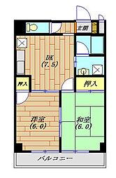 ナイアンローデ 203号室[2階]の間取り