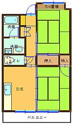 マンション青い木[101号室]の間取り