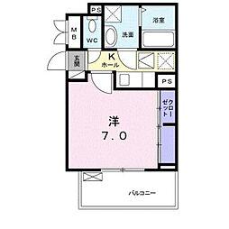 埼玉高速鉄道 鳩ヶ谷駅 徒歩6分の賃貸アパート 1階1Kの間取り