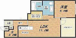 エイペックス東心斎橋II[2階]の間取り