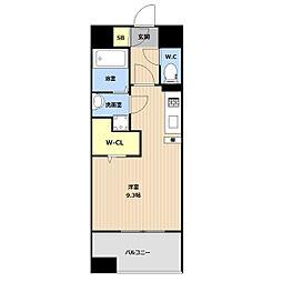 LIBTH(リブス)吉塚II 11階ワンルームの間取り