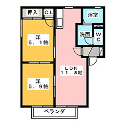 アムール D[2階]の間取り