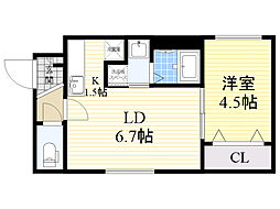 北海道札幌市北区北38条西7丁目の賃貸マンションの間取り