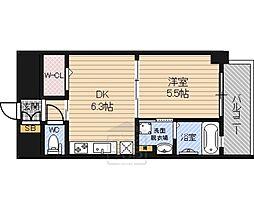 Osaka Metro長堀鶴見緑地線 今福鶴見駅 徒歩5分の賃貸マンション 8階1DKの間取り