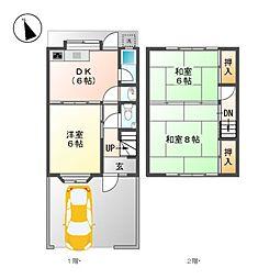 [一戸建] 愛知県名古屋市東区大幸4丁目 の賃貸【/】の間取り