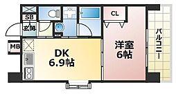 スカイビュー六甲[2階]の間取り
