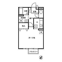 ドミールイワタ[2階]の間取り