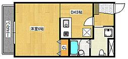 リノ・パラッツォ 2階1DKの間取り