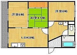 柳田マンション[2階]の間取り