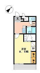 兵庫県神崎郡福崎町馬田の賃貸アパートの間取り