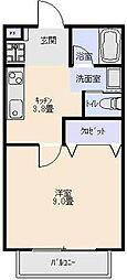 L・とれじゃーIII[204号室]の間取り