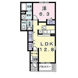 サニ−ハウス[1階]の間取り