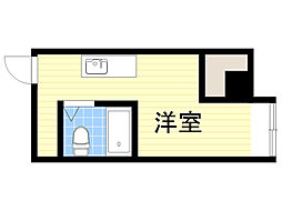 ラパンジール本田1 10階ワンルームの間取り