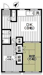 共立住宅五月ビル[202号室号室]の間取り