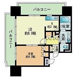 RJRプレシア吉塚駅前[8階]の間取り
