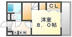 広島県福山市引野町北2丁目の賃貸アパートの間取り