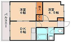 レクリオ柳河内[3階]の間取り