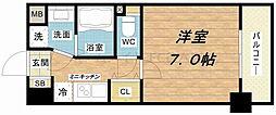 ウエンズ玉造EST[7階]の間取り