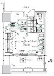 都営浅草線 大門駅 徒歩14分の賃貸マンション 2階ワンルームの間取り