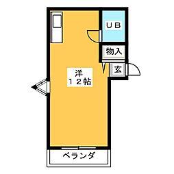ノーブル夏生マンション[3階]の間取り