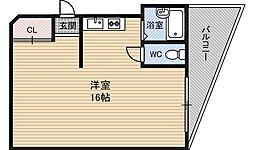 コーポ福島2[2階]の間取り