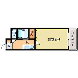 ディアコート本山[203号室号室]の間取り