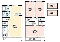 フルーレ南方IIB棟[2階]の間取り