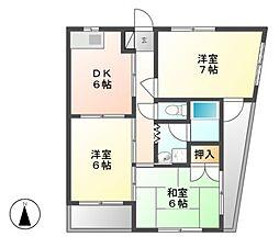サンニシキ[3階]の間取り