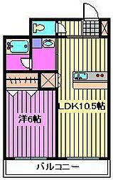 埼玉県さいたま市大宮区三橋1-の賃貸アパートの間取り