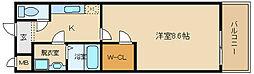 リバーサイド東久宝寺 8番館[305号室]の間取り