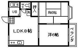 ヴェルジュTOKIWA[1階]の間取り