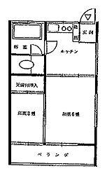 東京都小金井市中町4丁目の賃貸アパートの間取り