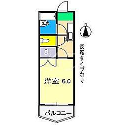 スカイプラザ新田[6階]の間取り