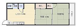 スペース八尾[3階]の間取り
