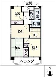 大昂ビル6[7階]の間取り