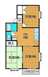 アーバンハイムA[2階]の間取り
