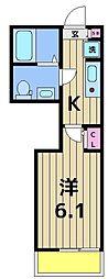 仮称)足立区千住東1丁目共同住宅[202号室]の間取り