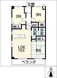 マーベラス 久保田[3階]の間取り