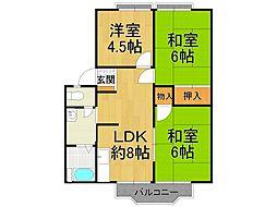 サニーハイツ東甲子園[2階]の間取り