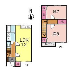 コーポラスTANAKA A[3号室]の間取り
