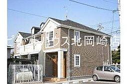 愛知県岡崎市羽根町字大池の賃貸アパートの外観