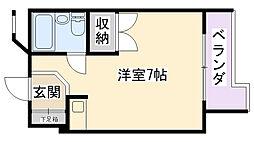 兵庫県西宮市今在家町の賃貸マンションの間取り