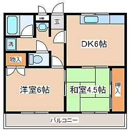 兵庫県神戸市兵庫区千鳥町3丁目の賃貸アパートの間取り