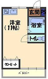 宮前ハイム[2階]の間取り