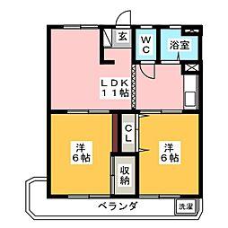 大村マンション[3階]の間取り