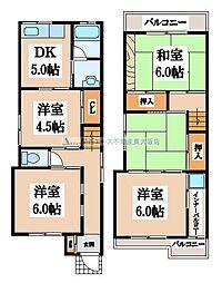 [一戸建] 大阪府大東市新田西町 の賃貸【/】の間取り